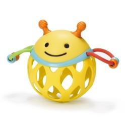 Piłka wielkie litery sensoryczna czerwona Rubbabu