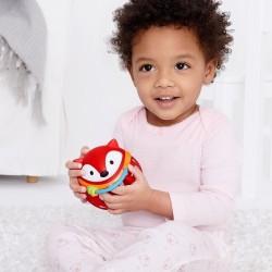 Piłka małe litery sensoryczna różowa Rubbabu