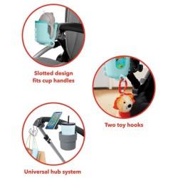 Klocki jeżyki w pudełki 36 elementów Basic Builder Box Bristle Blocks