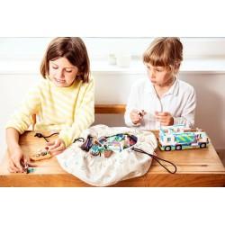 Duży żółty dźwig i pojazdy budowlane BJT200 BigJigs